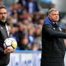 Sam Allardyce, right, was subjected to more abuse by Everton fans at Huddersfield