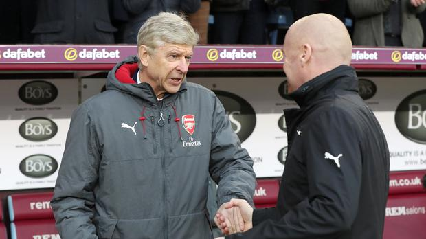 Sean Dyche's Burnley are the opponents for Arsene Wenger's final home game as Arsenal boss