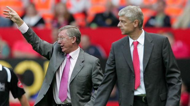 Arsene Wenger sent his support to his old rival Sir Alex Ferguson (PA)