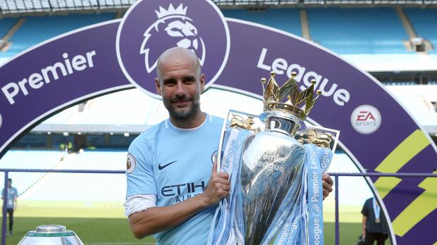 Pep Guardiola added the Premier League title to his resume (Martin Rickett/PA)