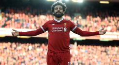 Liverpool's Mohamed Salah is hoping for a special end to his first season back in English football.