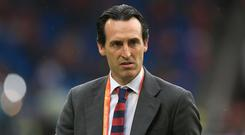 Unai Emery is available after leaving Paris St Germain (Adam Davy/PA)
