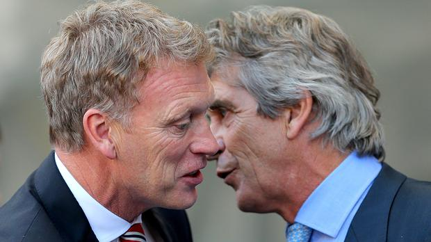 Manuel Pellegrini (right) has replaced David Moyes