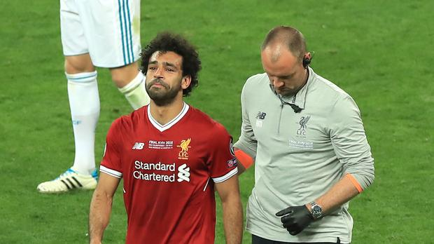 Mohamed Salah could feature for Egypt at the World Cup after the latest analysis of his shoulder problem (Peter Byrne/PA)