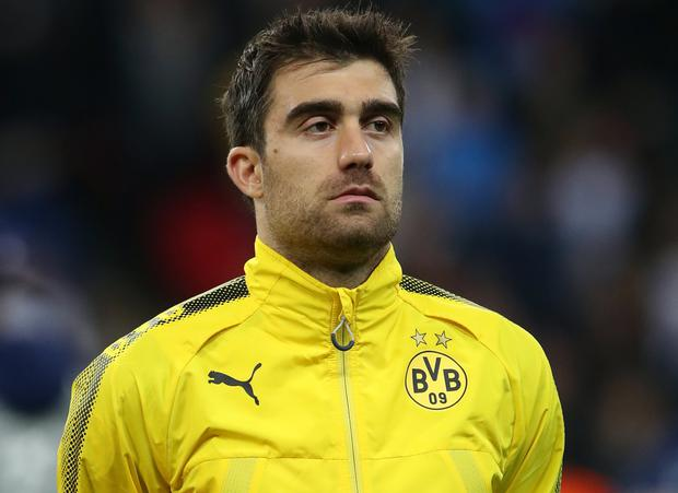 Sokratis Papastathopoulos of Borussia Dortmund has been heavily linked with Arsenal. (Nick Potts/PA)