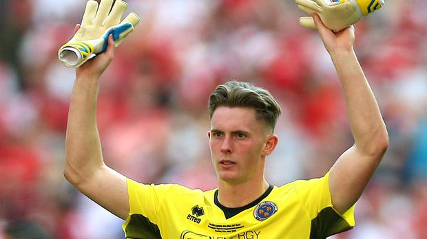 Dean Henderson has signed a new deal with Manchester United after an impressive loan at Shrewsbury (Nigel French/PA)