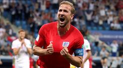 Harry Kane has scored five goals in the World Cup so far (Adam Davy/PA)