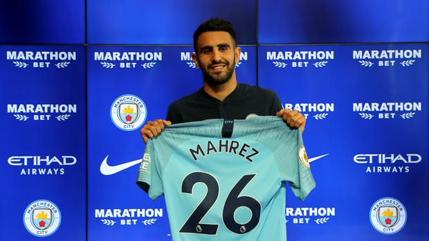 Riyad Mahrez is Manchester City's record signing (Richard Sellers/PA)