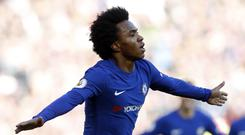 The FA has apologised after using an image doctored by Chelsea forward Willian to obscure Antonio Conte (Martin Rickett/PA Images)