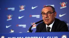 Maurizio Sarri was unveiled by Chelsea on Wednesday (Steve Paston/PA)