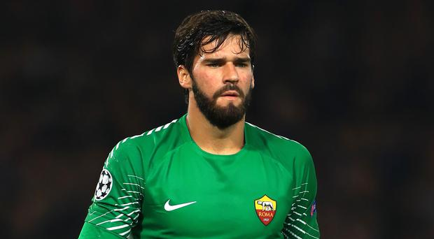 Liverpool sign goalkeeper Alisson from Roma in world-record deal