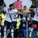 Son Heung-min (left) and Erik Lamela (right) have both signed contract extensions with Tottenham (Paul Harding/PA)