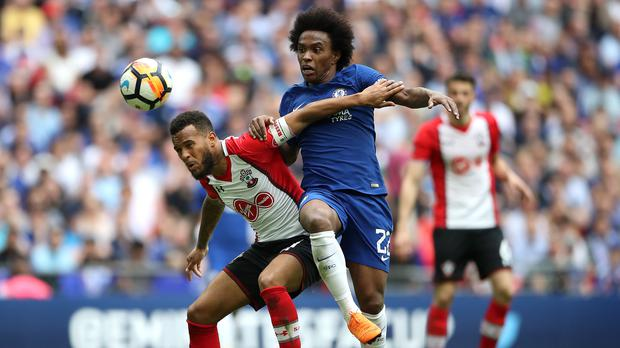 Barcelona are said to have made an offer for Chelsea's Willian (PA)