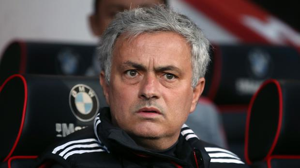 Jose Mourinho would not comment on Manchester United's Premier League title hopes (Adam Davy/PA)