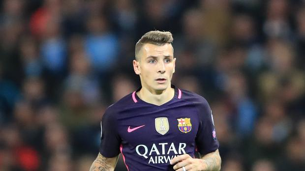 Lucas Digne has moved from Barcelona to Everton (Tim Goode/PA)