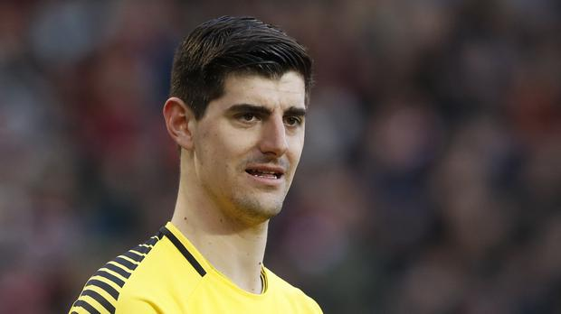 Thibaut Courtois has been linked with a move to Real Madrid this summer (Martin Rickett/PA)