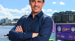 """I don't think the centre-back pairings are good enough so I do think Jose is right,"" Neville said at the launch of Cadbury's Premier League partnership. Photo: Sportsfile"