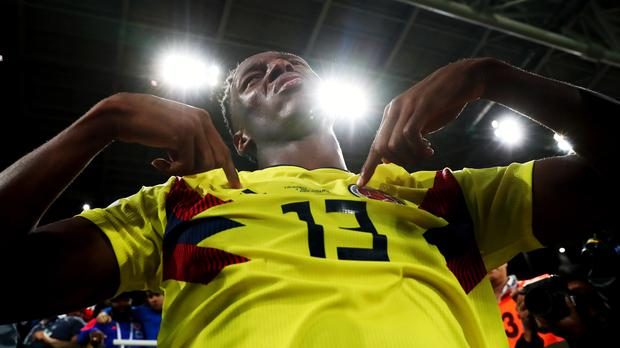 Everton have signed Yerry Mina from Barcelona (Tim Goode/PA).