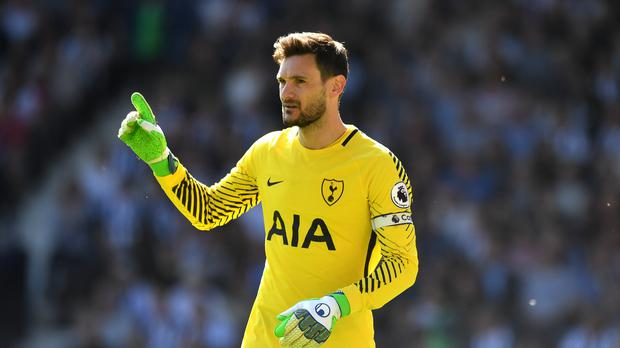 Hugo Lloris is back training with Spurs after captaining France to the World Cup (Anthony Devlin/PA)