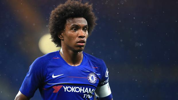 Willian remains a Chelsea player after being linked with a move away. (Adam Davy/PA)