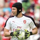 Petr Cech was mocked on Twitter after a mistake in Arsenal's loss to Manchester City (Niall Carson/PA)