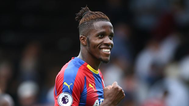 Crystal Palace's Wilfried Zaha has signed a long-term contract extension (Yui Mok/PA)