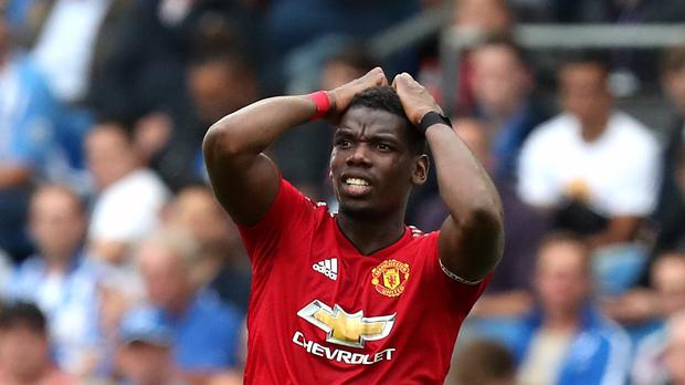 Paul Pogba failed to prevent Manchester United from falling to defeat (Gareth Fuller/PA)
