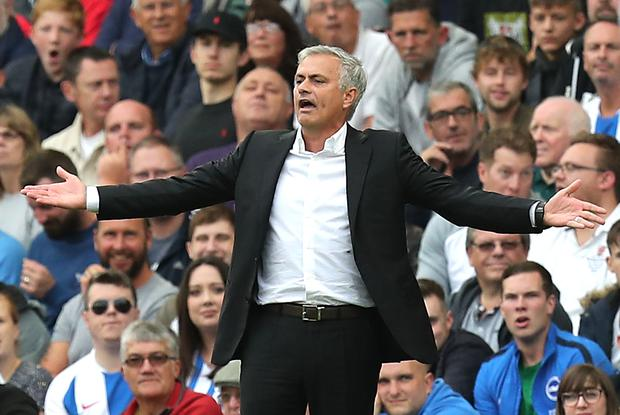 Jose Mourinho's side turned in a lacklustre performance against Brighton. (Gareth Fuller/PA)