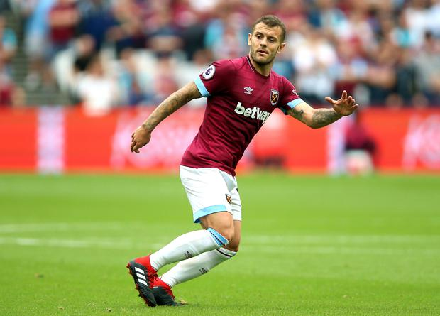 Jack Wilshere joined West Ham in the summer. Photo: Nigel French/PA