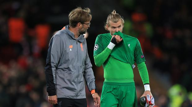 "Liverpool manager Jurgen Klopp insists goalkeeper Loris Karius has not been ""sacked"" (Peter Byrne/PA)."
