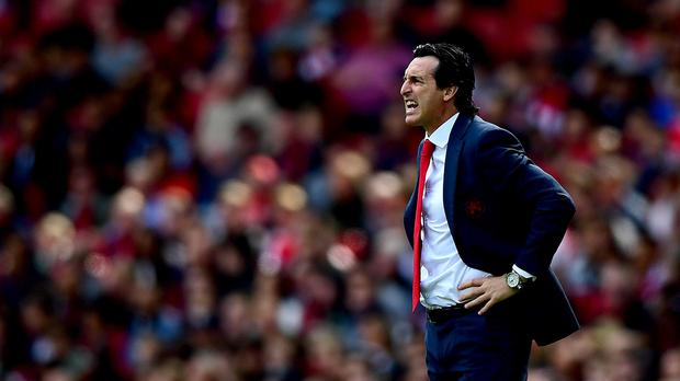 Unai Emery picked up his first win as Arsenal manager (Victoria Jones/PA)