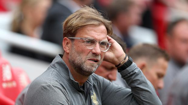 Liverpool manager Jurgen Klopp insists his side are nowhere near their best despite going top of the Premier League with victory over Brighton (David Davies/PA).