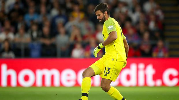 New Liverpool goalkeeper Alisson Becker has made an instant impression (Nick Potts/PA).