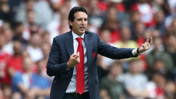 Unai Emery claimed his first win as Arsenal manager against West Ham (Nick Potts/PA)