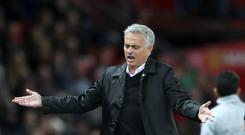 Jose Mourinho saw his side well beaten at Old Trafford (Nick Potts/PA)