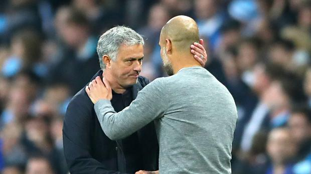Manchester United manager Jose Mourinho (left) and Manchester City manager Pep Guardiola (Nick Potts/PA)