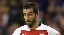 Arsenal's Henrikh Mkhitaryan. Photo: PA