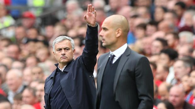 Jose Mourinho and Pep Guardiola are managing two of the world's biggest clubs (Martin Rickett/PA)