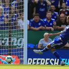 Leicester's Rachid Ghezzal scored the first goal against Liverpool this season. (Mike Egerton/PA)