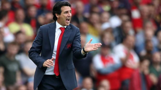Unai Emery takes his Arsenal side to Cardiff on Sunday. (Nick Potts/PA)