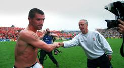 Almost a perfect day: When Roy barely acknowledged boss Mick McCarthy after the Netherlands game in 2001