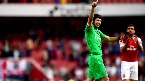 Arsenal goalkeeper Petr Cech knows the Gunners have to improve their form away from home (Victoria Jones/PA).