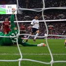 Son Heung-Min was on target as Tottenham beat Liverpool 4-1 at Wembley in their Premier League clash last season (Adam Davy/PA Images)