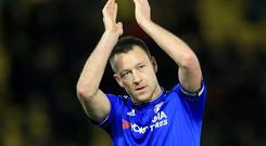 John Terry spoke with the English rugby players