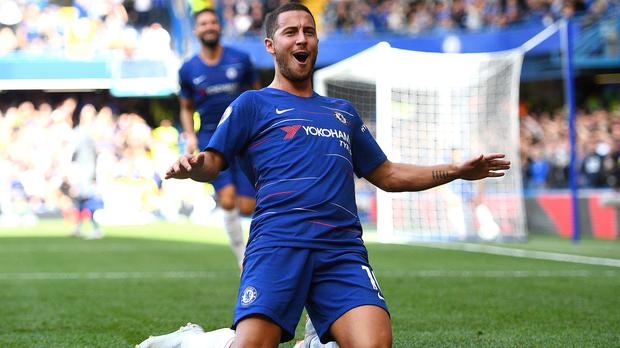 Eden Hazard, pictured, has hailed the impact of team-mate Olivier Giroud at Chelsea (Victoria Jones/PA)