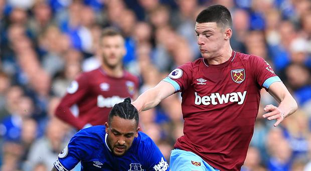 """Declan Rice says West Ham are """"fired up"""" for the Chelsea clash (Peter Byrne/PA)"""