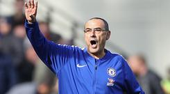 Maurizio Sarri's 100 per cent record as Blues boss came to an end (Tim Goode/PA)