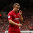 Walking alone: Despite a first-half performance which earned him the man-of-the-match award, Xherdan Shaqiri was taken off at half-time against Southampton by Jurgen Klopp. Photo: Reuters