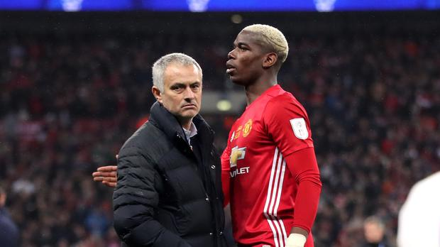 Jose Mourinho and Paul Pogba look to have a frosty relationship (Nick Potts/PA)