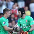 Bernd Leno replaced the injured Petr Cech in Arsenal's win over Watford. (Yui Mok/PA)